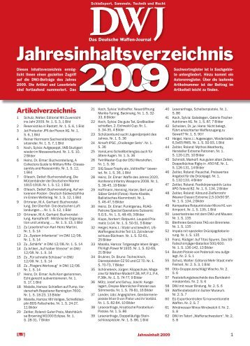Jahresinhalt 2009