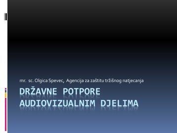Državne potpore audiovizualnim djelima - Agencija za zaštitu ...