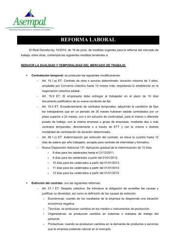 CIRCULAR Reforma mercado de trabajo - Asempal