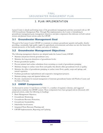 3. PLAN IMPLEMENTATION - Lassen County