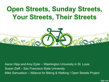St. Louis Open Streets - Active Living Research
