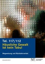 Häusliche Gewalt ist kein Tabu! - Kantonspolizei Basel-Stadt