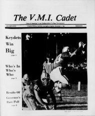 The Cadet. VMI Newspaper. November 01, 1985 - New Page 1 ...