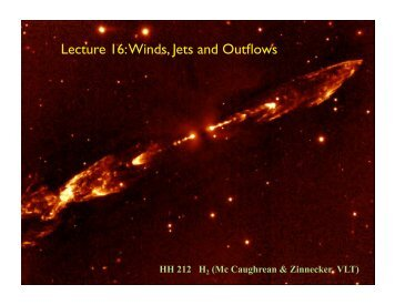 Lecture 16: Winds, Jets and Outflows