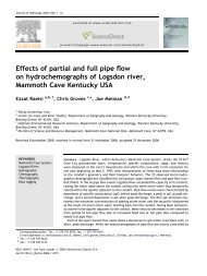 Effects of partial and full pipe flow on hydrochemographs of Logsdon ...