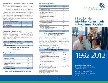 1992 a 2012 - Centro Médico Docente La Trinidad