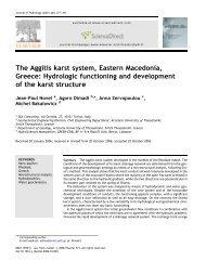 The Aggitis karst system, Eastern Macedonia, Greece: Hydrologic ...