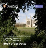 Download the book of abstracts - EurOMA 2011
