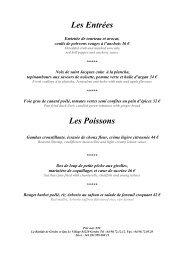 Les Entrées Les Poissons - La Bastide de Gordes & Spa