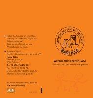Wohngemeinschaften (WG) - Bastille - Gemeinsam sind wir stark eV
