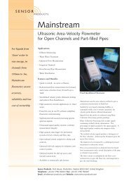 Ultrasonic Area-Velocity Flowmeter for Open Channels and Part ...