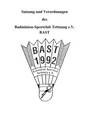 anhang zur beitragsordnung - BAST-Tettnang