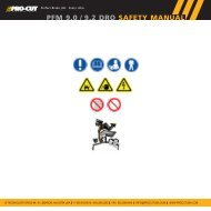 9.2 manual.interior.qxd - Pro-Cut USA On-Car Brake Lathes