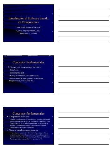 Introducción al Software basado en Componentes Conceptos ...