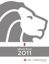 Memoria Anual / Annual Report 2011 - Credomatic