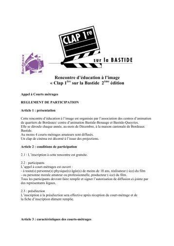 Clap 1ère sur la Bastide 2012 - Association des centres d'animation ...