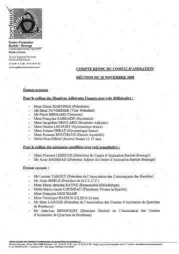 Centre d'animation Bastide - Benauge - Association des centres d ...