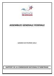 Rapport de la Commission Nationale d'Arbitrage