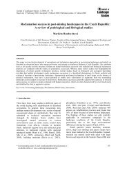 Landscape Studies Reclamation success in post-mining landscapes ...