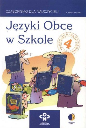 Spis tr i redakcja 4-2005.p65 - Biblioteka Cyfrowa OÅ›rodka Rozwoju ...