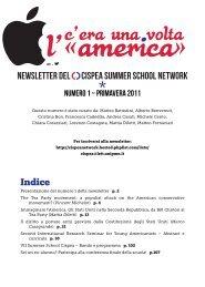 NEWSLETTER DEL CISPEA SUMMER SCHOOL NETWORK