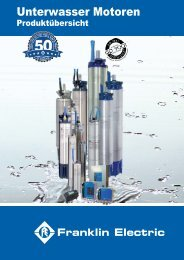 Produktübersicht Deutsch.pdf - Franklin Electric Europa