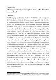 Christoph Zöpel Industrieagglomerationen versus Europäische Stadt