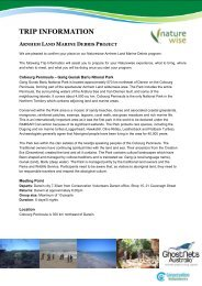 trip information arnhem land marine debris project - Conservation ...