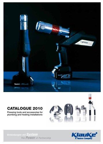 CATALOGUE 2010 - Gustav Klauke GmbH