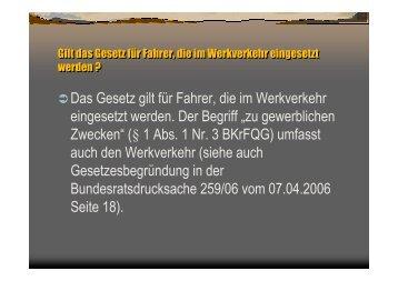 Berufskraftfahrerqualifikationsgesetzt: Häufig gestellte ... - Schmolck