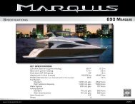 Download Spec Sheet - Marquis Yachts