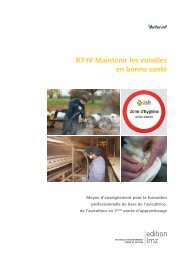 B7-IV Maintenir les volailles en bonne santé - Aviforum