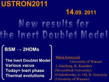 New results for Inert Doublet Model.