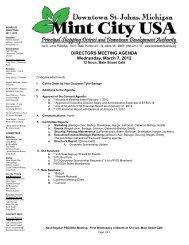 2012 Mint Festival Volunteer Sign-Up Sheet - Downtown St. Johns ...