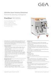 GEA Niro Soavi Panther NS3006L Tech Sheets ENG Rev01 2013