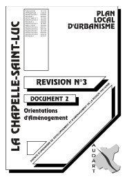 Orientations d'aménagement - La Chapelle St-Luc
