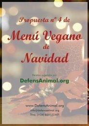Menú Vegano de Navidad - DefensAnimal.org