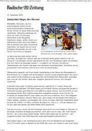 31.12.2009 Quelle: Badische Zeitung Wölfe Freiburg ... - Schmolck
