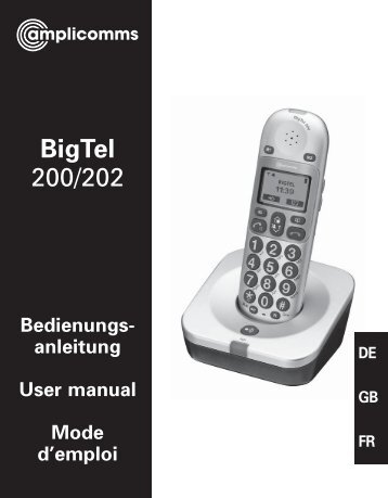 BigTel 200 User Guide - Hearing Direct