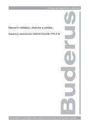 Návod k inštalácii, obsluhe a údržbe - Buderus