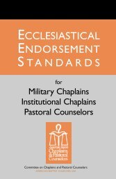 ecclesiastical endorsement standards - American Baptist Home ...