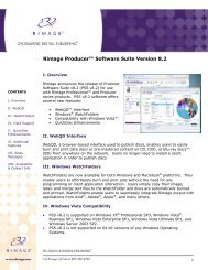 Rimage Producer™ Software Suite Version 8.2 - Data Direct