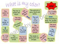What is my color? - English at Bar-Lev