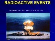 Response to Radioactive Events