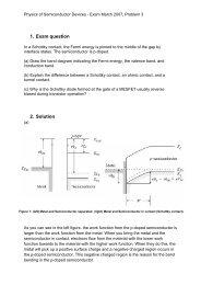 1. Exam question 2. Solution
