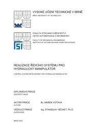 vysoké učení technické v brně realizace řídicího systému pro ...