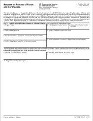 Request for Release of Funds and Certification - HUD