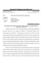 Final Memorex Press Release