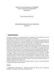 Istituto d' Istruzione Superiore G.VERONESE Indirizzo SOCIO ...
