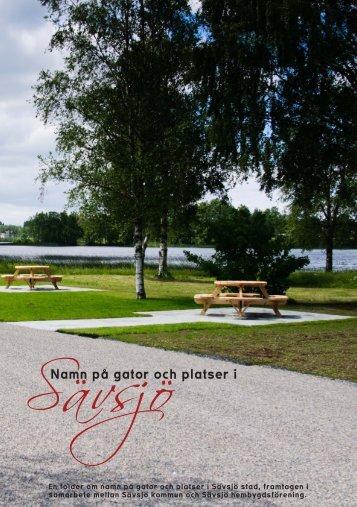Namn på gator och platser i - Sävsjö kommun
